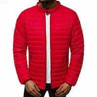 Мужская демисезонная куртка красная без капюшона