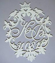 Монограма на весілля, вензель, герб весільний до прізвища та ініціалів