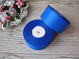 Лента репсовая, на метраж, ширина 4 см, цвет синий, 4 грн за метр., фото 2