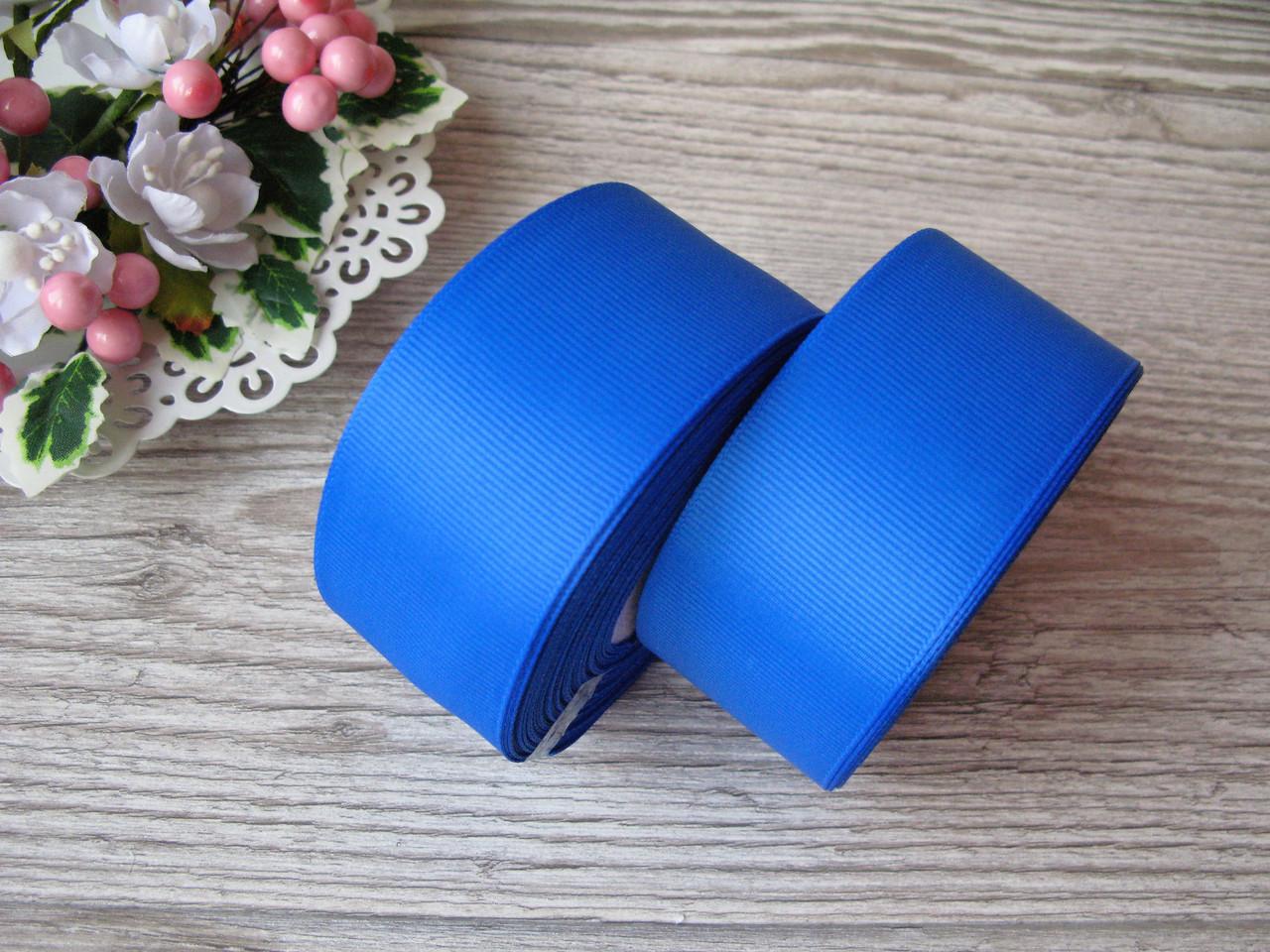 Лента репсовая, на метраж, ширина 4 см, цвет синий, 4 грн за метр.