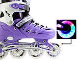 Ролики фіолетові розмір 34-37 / Ролики Scale Sport. Violet LF 905, размер 34-37, фото 3