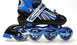 Ролики Power Champs.  Blue, розмір 34-37 / Ролики Power Champs. Blue, размер 34-37, фото 2