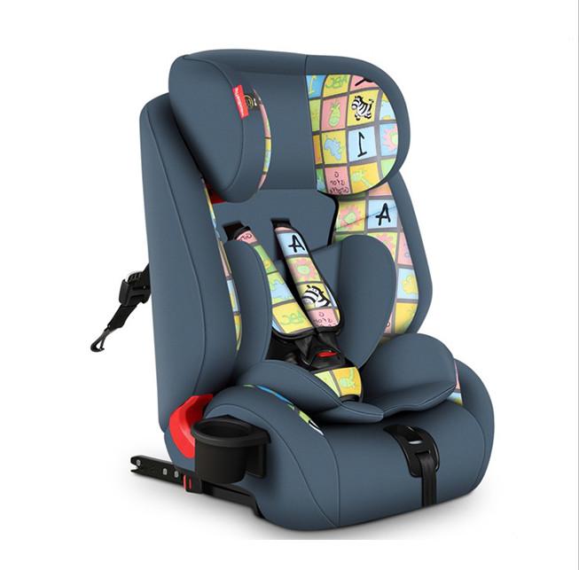 Детское автокресло с ISOFIX Gifted Baby HQ  Серо синий (группа 1-2-3; 9-36kg)