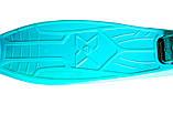 Дитячий самокат MAXI.  Бірюзовий колір./ Детский самокат MAXI. Бирюзовый цвет., фото 3