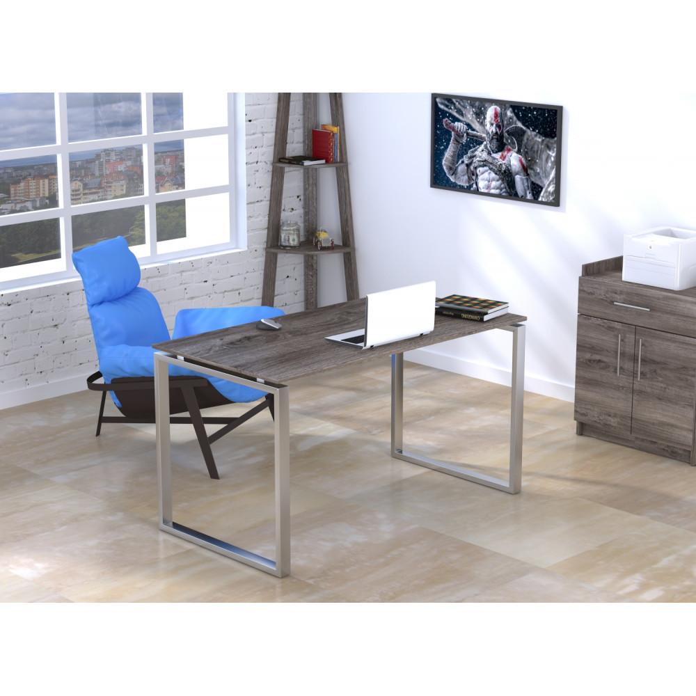 Письменный стол Loft-design Q-135х70х76 см ножки металл-Хром столешница лдсп