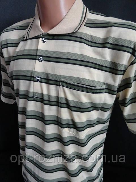 Мужские футболки с воротником в полоску.