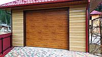 Гаражні ворота Дархан  Дуб золотий / Дуб темний   3000*3000