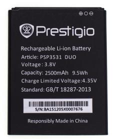 Аккумулятор (Батарея) для Prestigio PSP3532 (2500 mAh) Оригинал