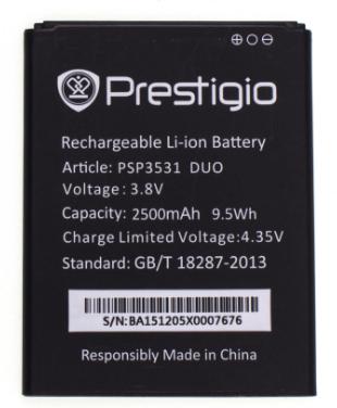 Акумулятор (Батарея) для Prestigio PAP3531 (2500 mAh) Оригінал, фото 2