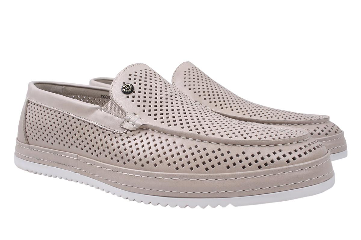 Туфлі чоловічі Cosottinni натуральна шкіра, колір бежевий, розмір 39-45