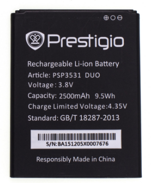 Аккумулятор (Батарея) для Prestigio PAP7530 (2500 mAh), фото 2