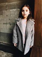Весеннее пальто для девочки серый
