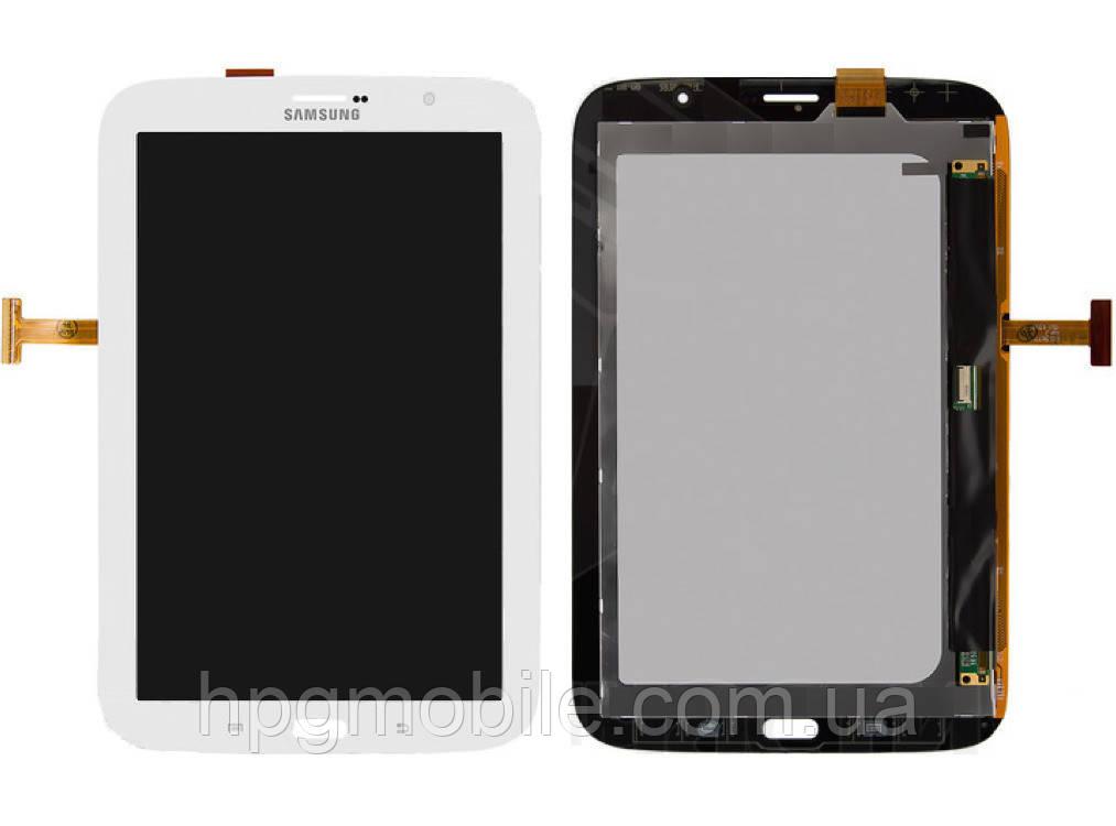 """Дисплей для Samsung Galaxy Note 8.0"""" N5100, N5110, 3G, модуль в сборе (экран и сенсор), белый, оригинал"""