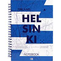Блокнот на спирали в твердой обложке, А5, 96 листов, Helsinki
