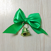 Дзвіночок з зеленим атласним бантом