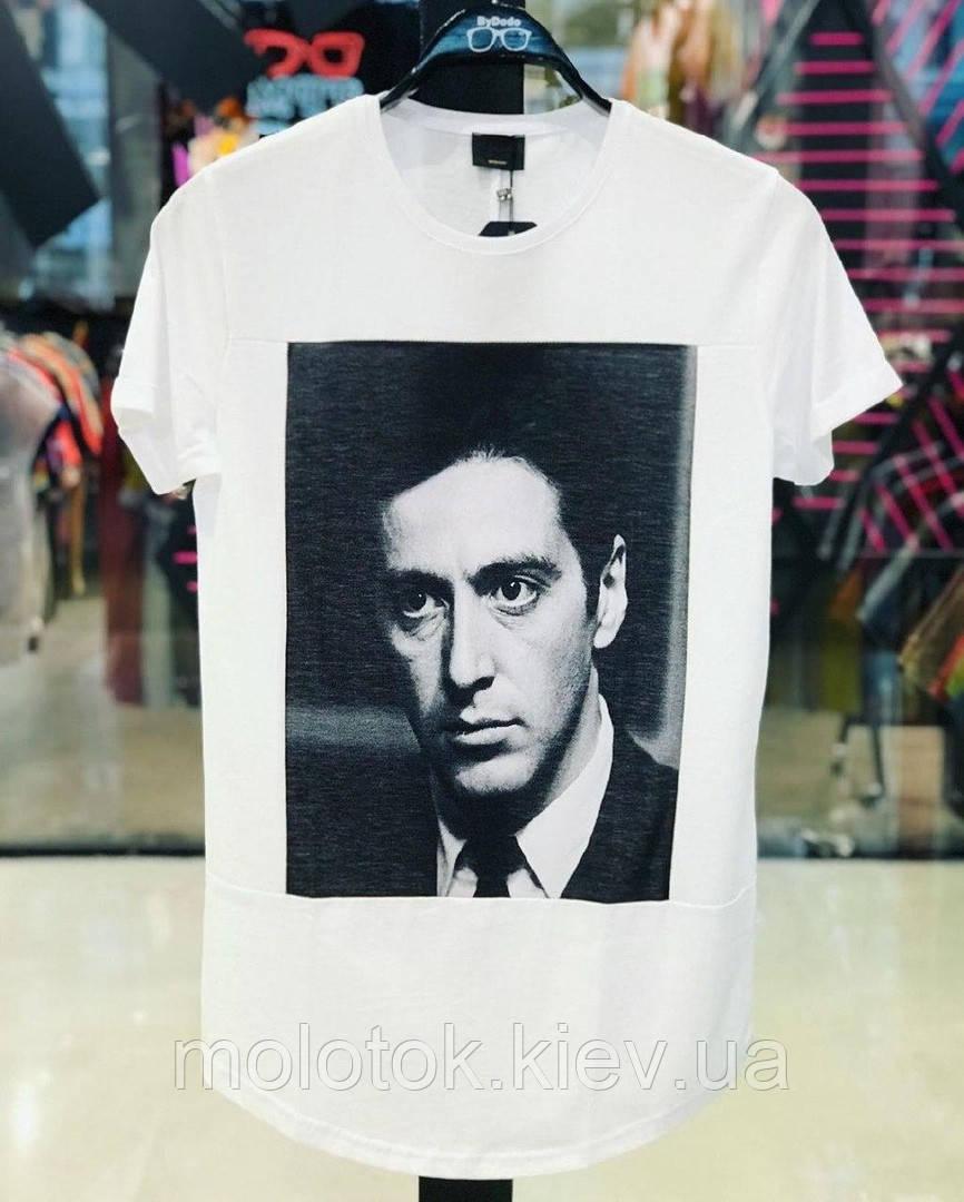 Мужская футболка белая шелкография