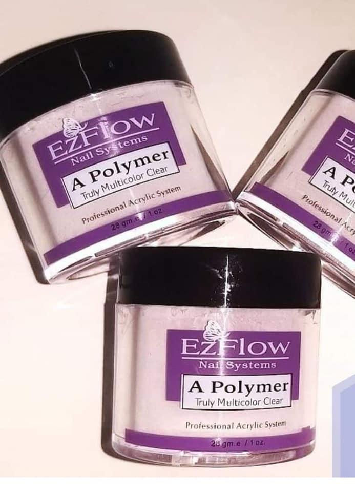 Акриловая розовая пудра для ногтей EzFlow Nail Systems
