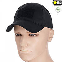 M-Tac бейсболка с липучкой Flex рип-стоп Black