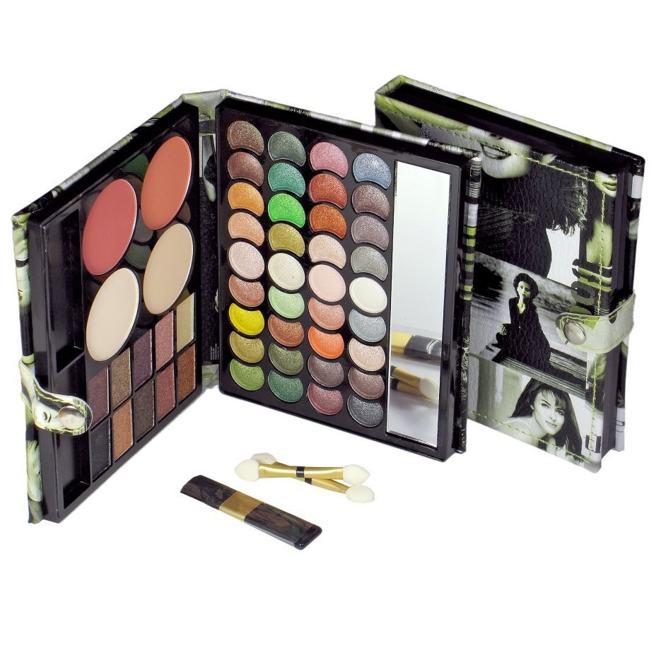 Тени для век maXmaR makeup set 50 Colors (46 оттенков теней + 2 румян +2 пудры)