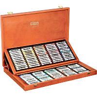 Пастель сухая TOISON D'OR, набор из 120 цветов, деревянная коробка