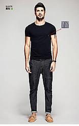 """Мужская футболка 100% Хлопок Марка """"DOOMILAI"""" Арт.1836 (черный)"""