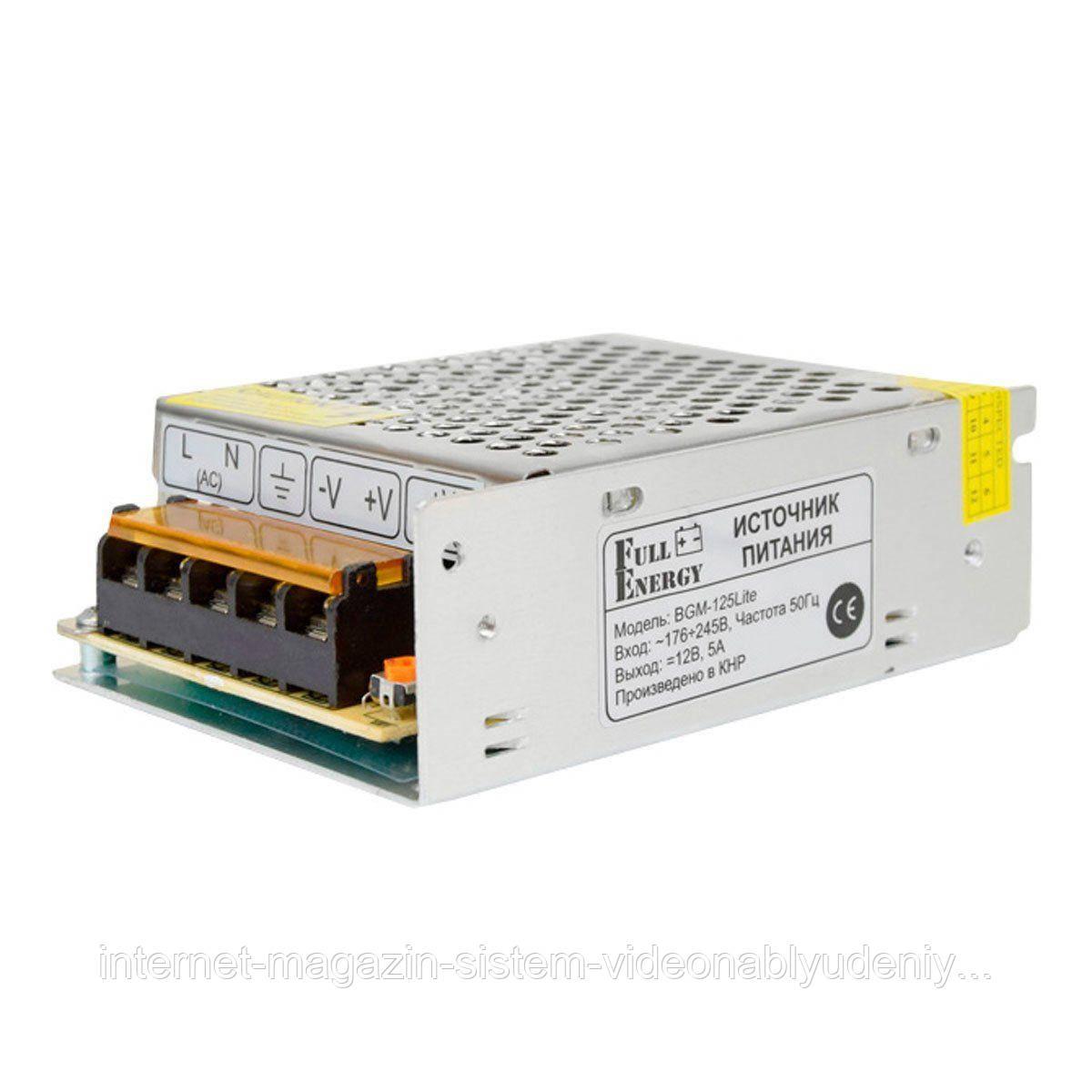 Блок питания импульсный Full Energy BGM-125Lite