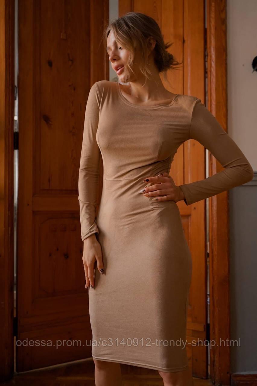 Платье женское замш 42-44 44-46