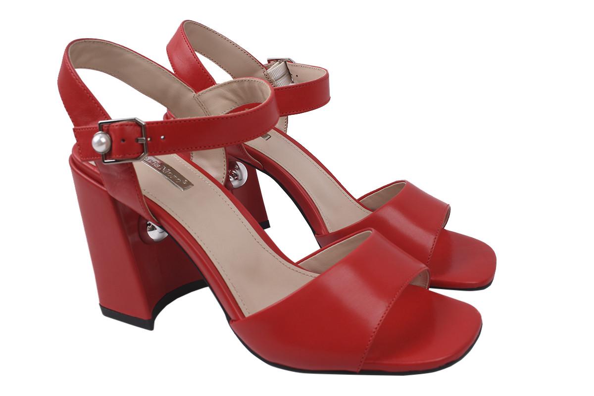 Босоніжки Maria Moro натуральна шкіра, колір червоний, розмір 35-40