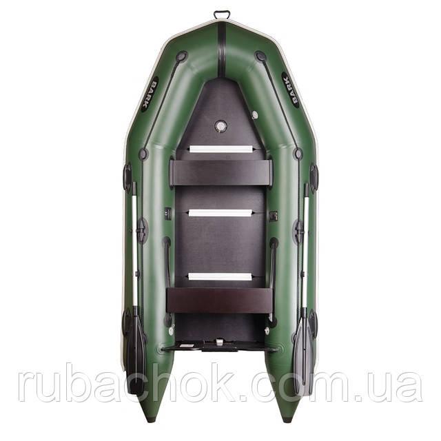Трехместная моторная надувная лодка Bark (Барк) BT 290S (с жестким дном и надувным кильсоном)