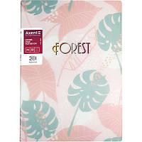 Блокнот со сменным блоком, 3D пластик, А5, 80 листов, Forest, Розовый