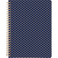Блокнот на спирали в твердой PU обложке А5, 80 листов, Scale, синий