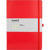 Книга записная, Partner Grand, 295х210 мм, 100 листов, клетка, Красная