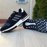 Мужские кроссовки Adidas ZX 500 черные с белым. Живое фото (Реплика ААА+), фото 7
