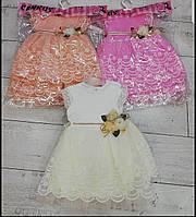 Платья для девочек 68-76-80 рост