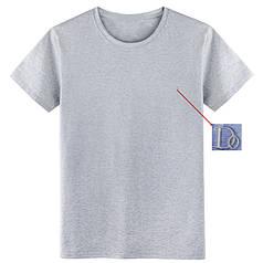 """Мужская футболка 100% Хлопок Марка """"DOOMILAI"""" Арт.1840(серая)"""