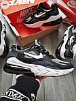 Чоловічі кросівки Nike Air Max 270 React (чорно-сірі) 329PL, фото 3