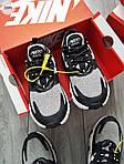 Чоловічі кросівки Nike Air Max 270 React (чорно-сірі) 329PL, фото 5