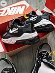 Чоловічі кросівки Nike Air Max 270 React (чорно-сірі) 329PL, фото 7