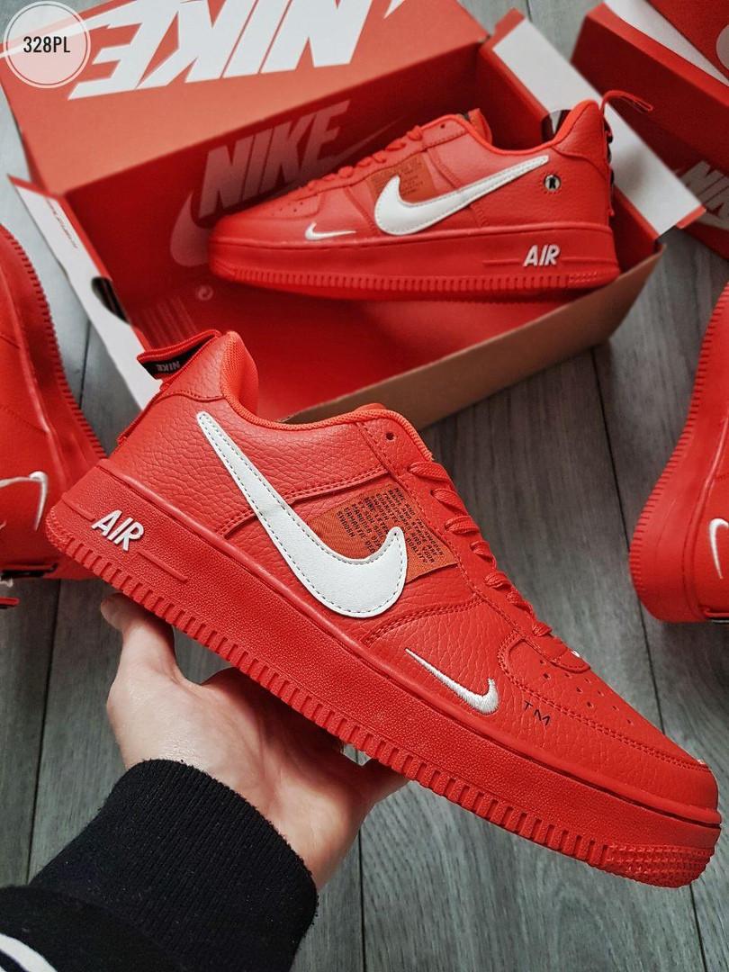 Мужские кроссовки Nike Air Force Low Red (328PL)