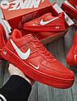 Мужские кроссовки Nike Air Force Low Red (328PL), фото 2