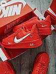 Мужские кроссовки Nike Air Force Low Red (328PL), фото 4