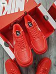 Мужские кроссовки Nike Air Force Low Red (328PL), фото 6