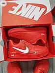 Мужские кроссовки Nike Air Force Low Red (328PL), фото 7