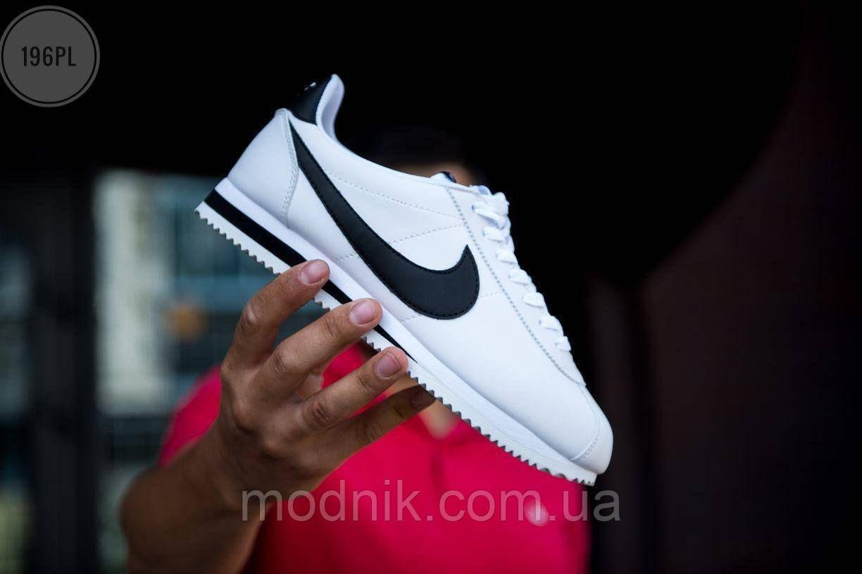 Мужские кроссовки Nike Cortez white/black Classic - 196PL