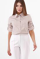 Коттоновая базовая рубашка женская блузка, размер от 42 до 48, фото 3
