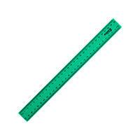 Линейка пластиковая, 30 см, зеленая
