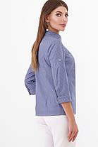 Темно-синя сорочка жіноча блуза, розмір від 42 до 48, фото 3