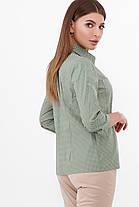 Бежева базова сорочка без малюнка жіноча блуза, розмір від 42 до 48, фото 3