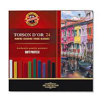 Пастель сухая Koh-i-Noor TOISON D'OR, набор из 24 цветов