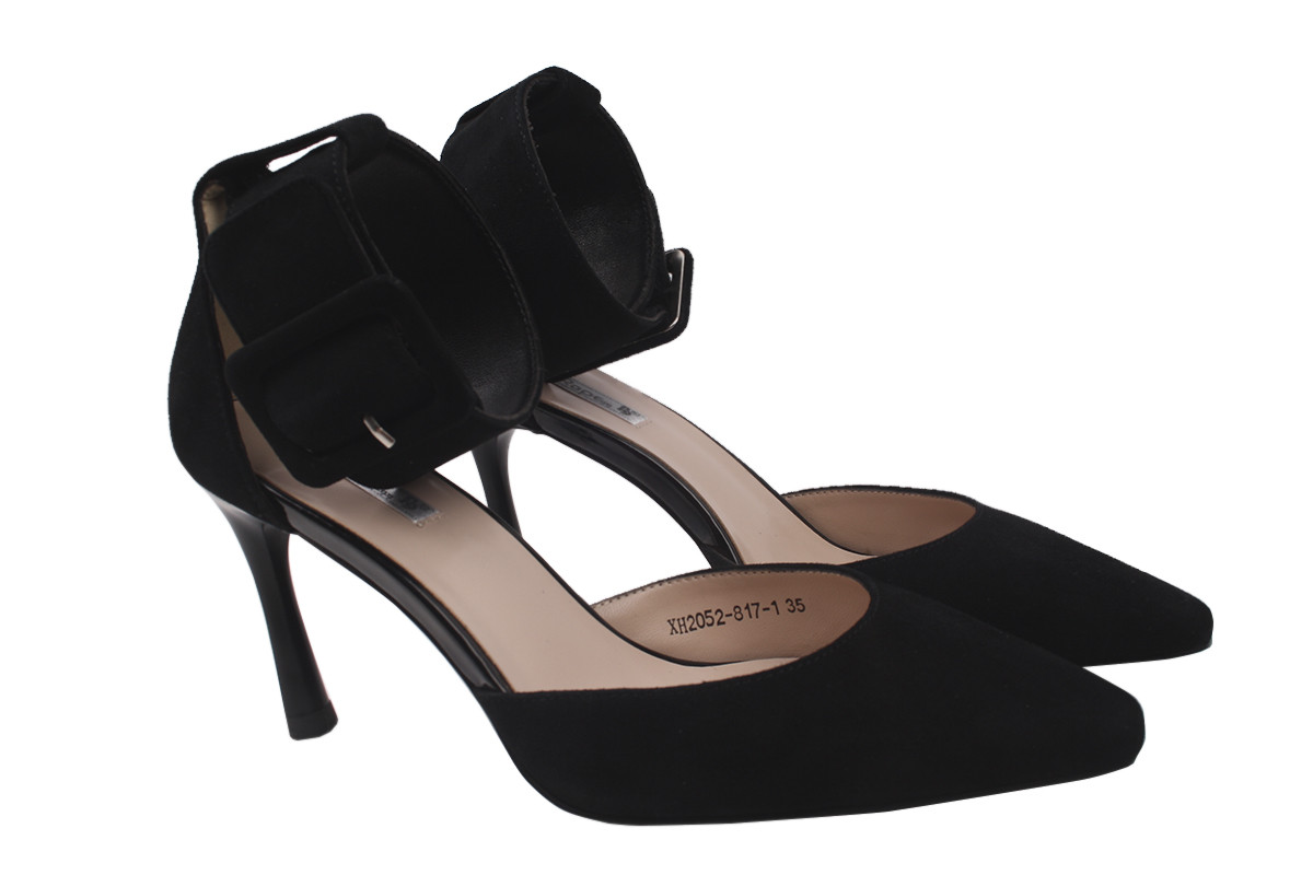 Туфли женские big Rope натуральный замш, цвет черный, размер 35-39